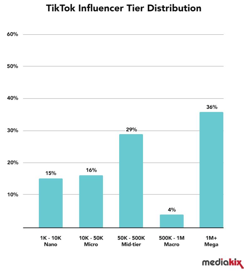 TikTok Influencer Tier Distribution